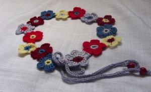 Curea / centura / brau cu flori crosetate 1