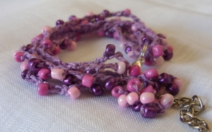 Forest Fruit - Bead crochet bracelet