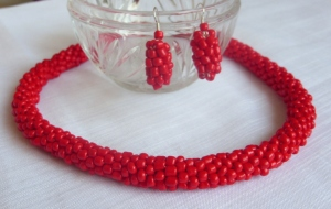 Simplicity Collection - Red bead rope