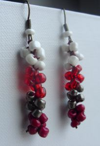 Cherry red earring