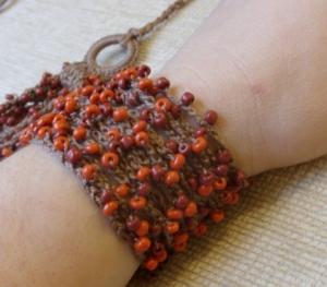Bead crochet nature bracelet