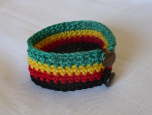 Bob Marley crocheted bracelet