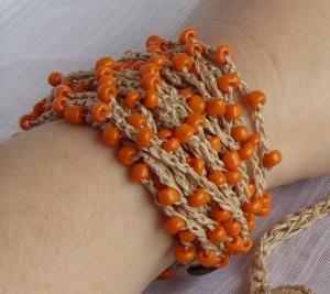 Sun and sand beaded bracelet