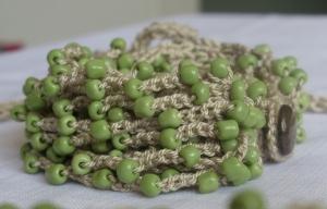 Peas beaded bracelet