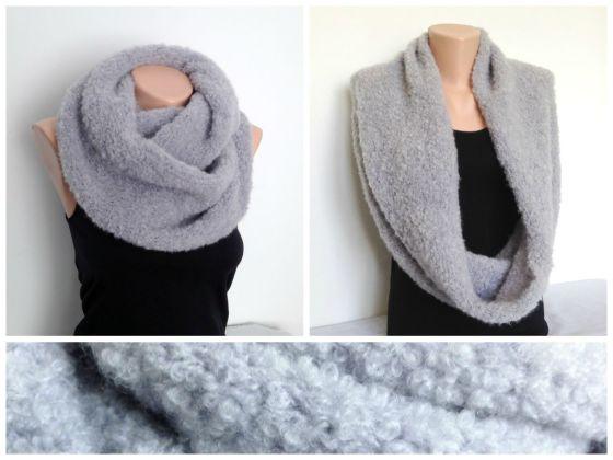 Fular tricotat gri